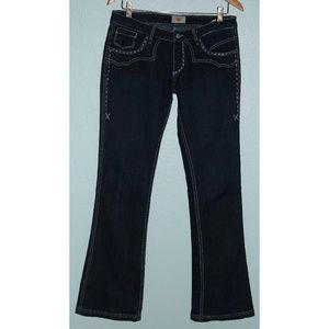 Antik SZ 29 X 33 Embroidered Western Bootcut Jeans